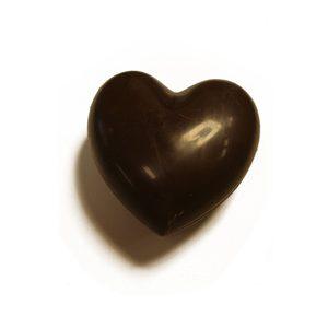 Coeur à croquer à deux chocolat noir