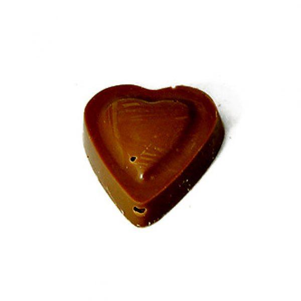 Grand coeur à croquer à deux chocolat noir