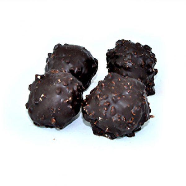 Petit rocher praliné noir Bio