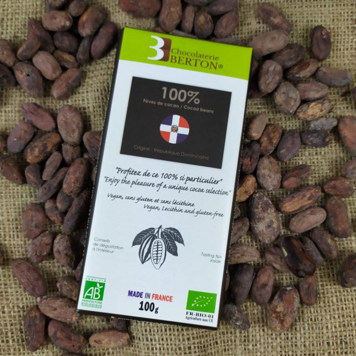 Chocolat Sans Sucre RD 100% FEVES DE CACAO rdt