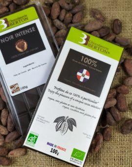 Chocolat sans sucre 100% Fèves de Cacao