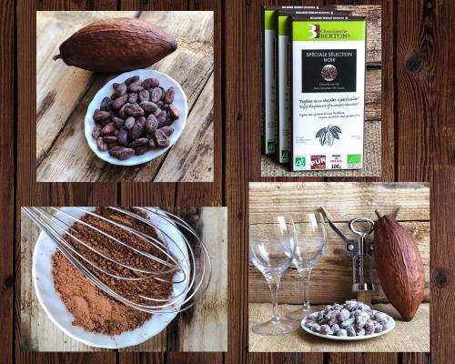 lot Tonique féves et Poudre de Cacao Bio r