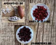 Aperofeves Goji & cranberries