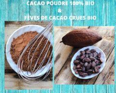 CACAO POUDRE 100% & FEVES DE CACAO CRUES BIO
