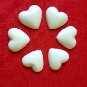 coeurs plats Chocolat Blanc rd
